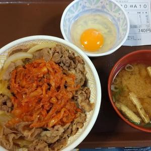 【東京都】すき家のキムチ牛丼大盛