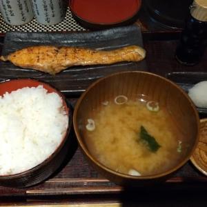 【銀座】越後屋八十吉の厚切り銀鮭塩焼定食