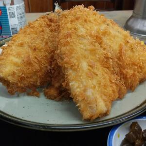 【板橋区】ときわ食堂の真あじフライ定食ご飯大盛