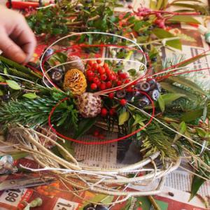 オランダでしめ縄飾りのレッスン