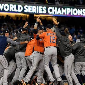 アストロズのサイン盗み、MLBが「選手ほぼ全員が計画関与」と認定