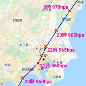 台風19号の辿った軌跡と多摩川の状況について