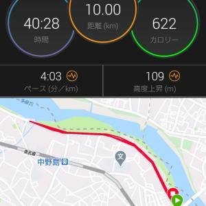 水曜日のスピード練習10kmの結果  練習PB更新