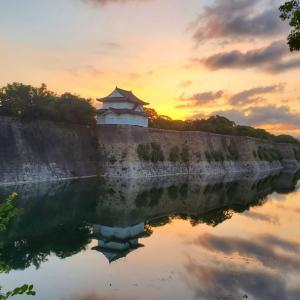 早朝の大阪城公園でのスピード練習