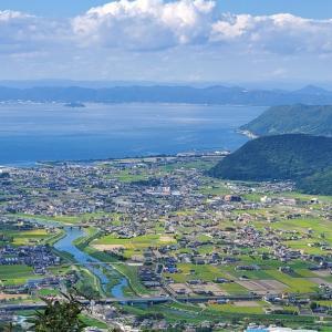 讃岐平野を一望するために城山峠走