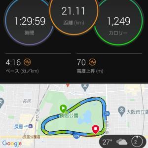 27℃の高温下でもハーフマラソン90分切り