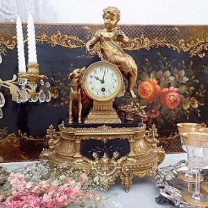 ★☆ 幻想 19世紀 天使のマントル置時計 ★☆