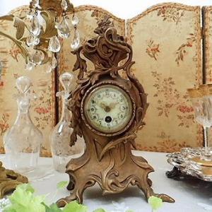 ★☆ 華麗 19世紀 花文字マントル置時計 ★☆