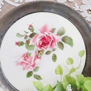 ★☆ 薔薇の陶板トレイ ★☆