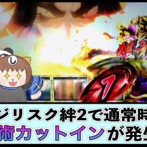 【天井狙い】バジリスク絆2で通常時に瞳術カットインが発生! 揃えたらプレミアムバジリスクチャンスに当選しました!