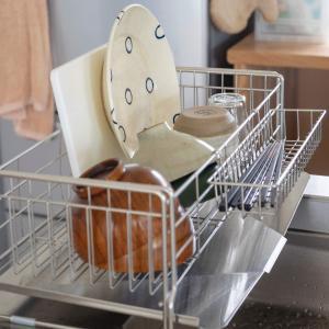 洗う量に合わせて幅が広がる!ヨシカワ「水切りカゴ」がおすすめ