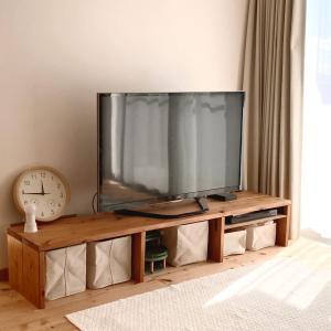 木製テレビボードをDIY。杉板でつくるシンプルなデザイン