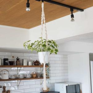 【はじめてのマクラメプラントハンガー作り】紐を用意するだけで作れる!空間を活かすインテリア