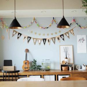 1歳の誕生日キロク。インテリアの飾りと手作りケーキ*1年を振り返って思うこと