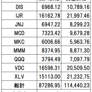 マイ米国株ポートフォリオ VS S&P500(VOO)【2021年4月末】