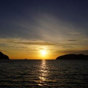 向島の夕陽
