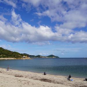 美濃ヶ浜と雲