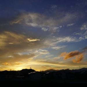 草刈日和の夕日