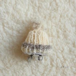 冬限定 ミニニット帽の2WAYアクセサリー 三色
