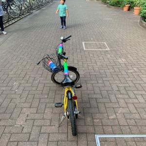 自転車乗りの練習