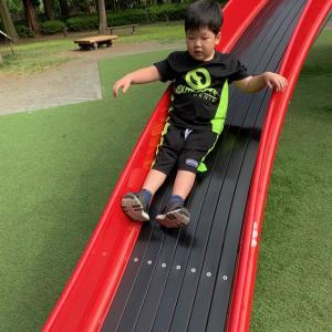 子供と公園遊び