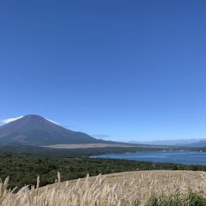 絶景の富士山を眺め心を癒す