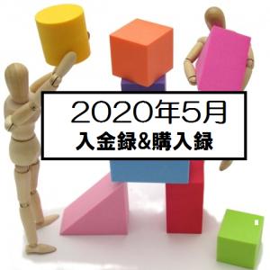 2020年5月,48万円入金しIAU(GOLD金ETF)を273株購入