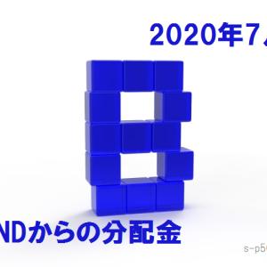 BND(米国総合債券ETF)から分配金51.90$いただきました。2020年7月