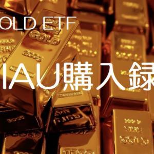2021年2月,45万円入金しIAU(ゴールドETF)を246株購入