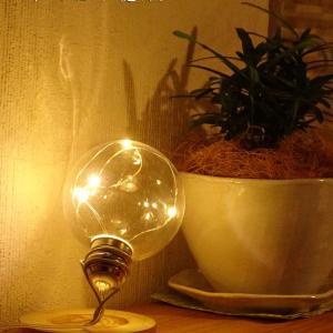 【ダイソー】エジソン電球みたい!USB電源の電球型ライト