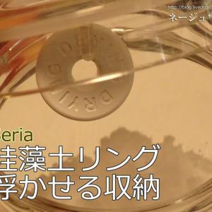 【セリア】乾物用の珪藻土タブレットも浮かせる収納!