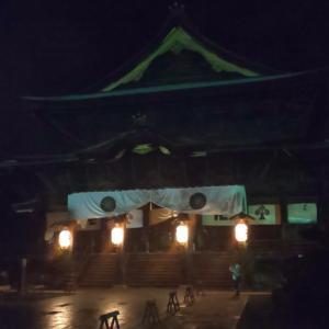 善光寺での二年詣り