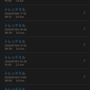 7月の運動量 ランニング編