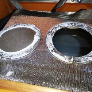 オルビス給水タンク蓋の防水方法変更