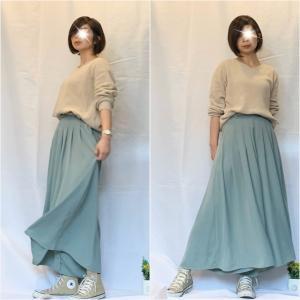【しまむら】トレンドカラーのスカーチョで気分をアゲたいコーデ