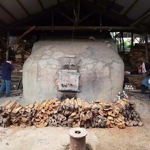 信楽焼、窯焚き