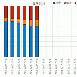 2021年7月末の資産配分/リスク資産ポートフォリオ