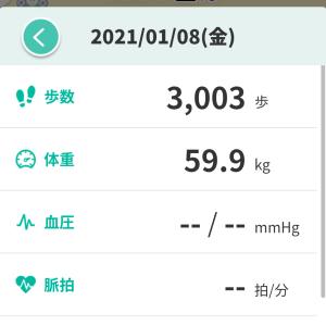 【ダイエット】雪掻きで念願の50キロ台突入の33日目