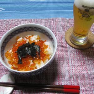今日の夕飯は贅沢にいくら丼です…北海道らしい食です!