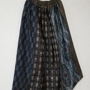 紬四種のギャザースカート