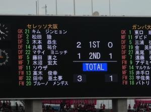 取り急ぎ観戦報告、大阪ダービー
