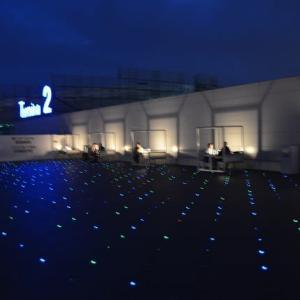 羽田空港第2ターミナル 展望デッキも照明が灯りました 11