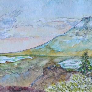 三ッ峠山頂から富士山の勇姿 絵 2-27