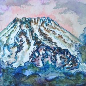箱根駒ヶ岳山頂から富士山 絵 2-37