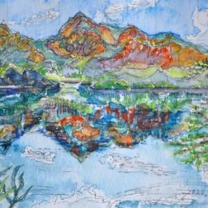 裏磐梯の景色 絵 2-39