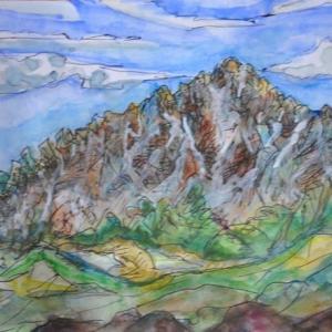 剣岳急峻の頂き 絵 2-88