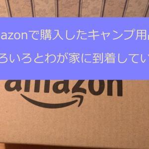 初売りセールやAmazonで購入していたキャンプ用品が到着していた