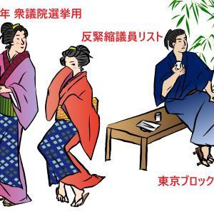 経済・税制の仕組み知る国会議員リスト<20年衆院選・東京ブロック>