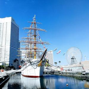 広い空!みなとみらいの穴場。帆船日本丸で親子ゆっくり過ごしました。
