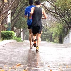 【つくばマラソン レポ1】ラン仲間と土砂降りとスタート